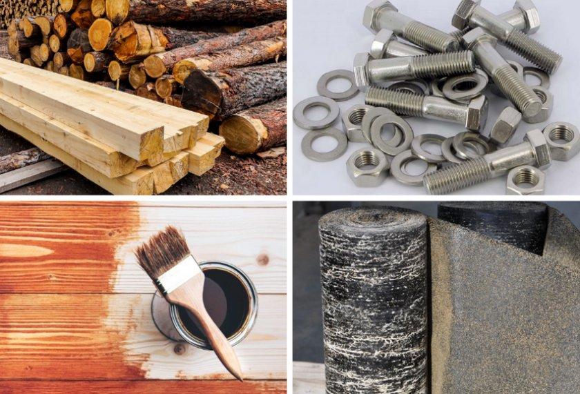 Необходимое для постройки веранды из натурального дерева