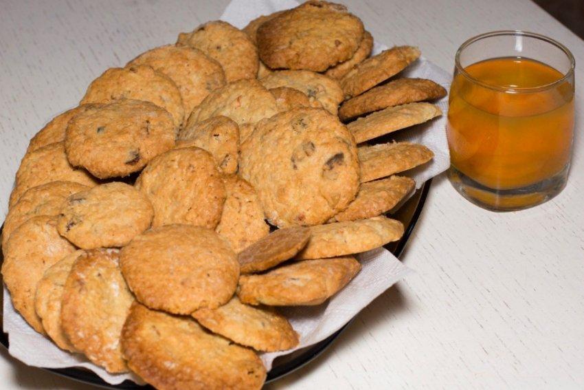 Овсяное печенье без муки и сахара