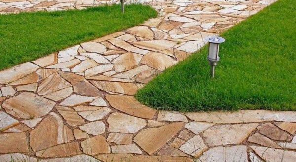 Камни для дорожек на даче