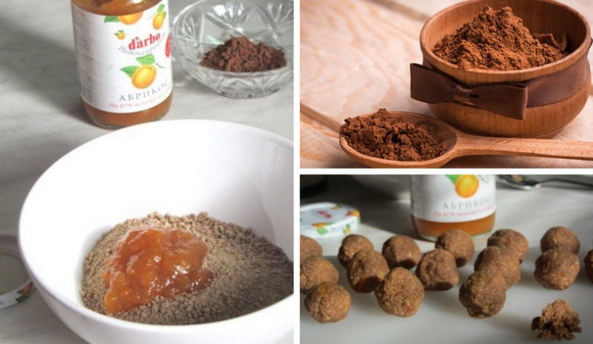 Приготовление конфет из отрубей