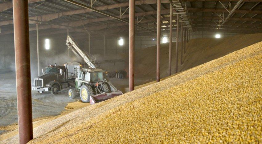 Хранение зерна на складе