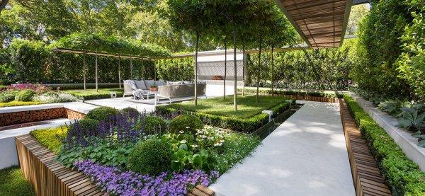Ландшафтный дизайн садового участка загородного дома на 10 соток с фото: примеры оформления квадратных и прямоугольных территорий своими руками, идеи