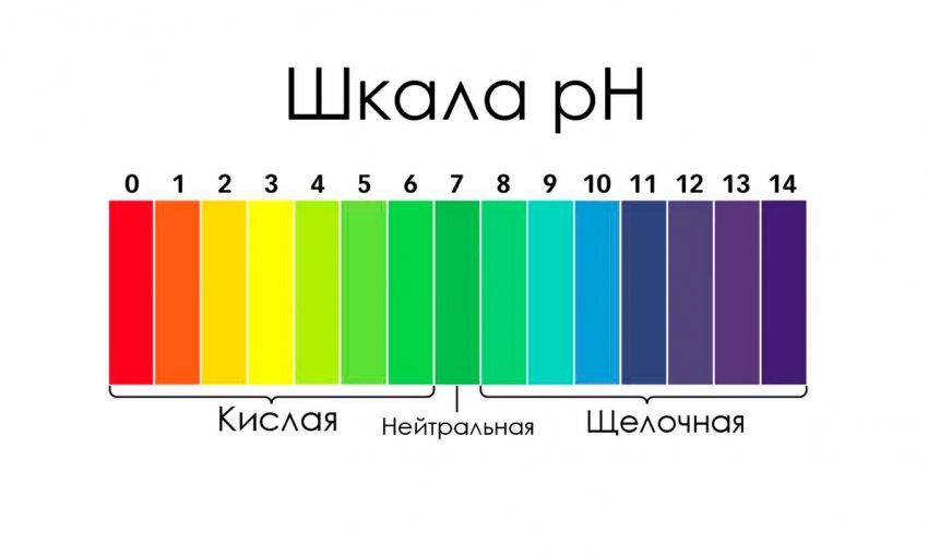 Шкала кислотности почвы pH