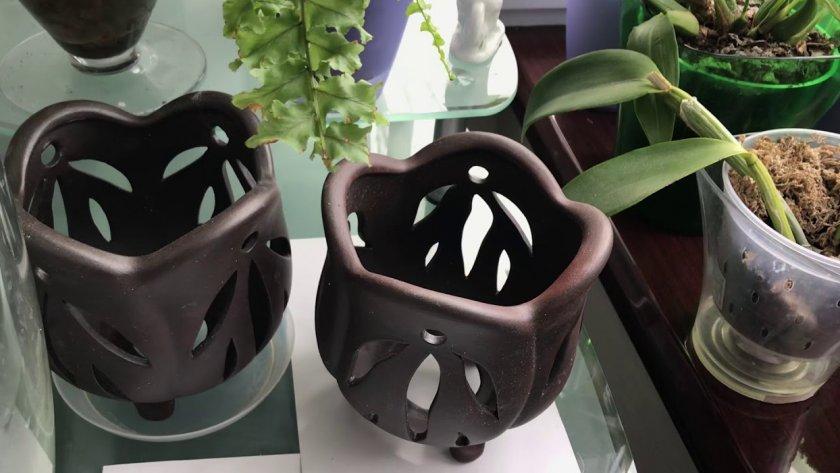Керамические горшки для орхидей