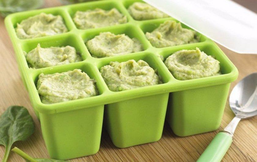 Заморозка кабачков для детского питания