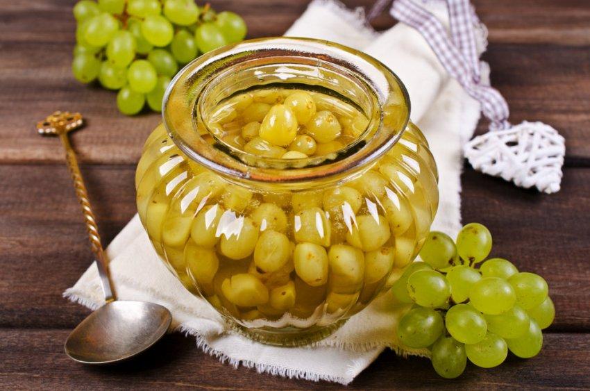 Классический рецепт винограда с горчицей