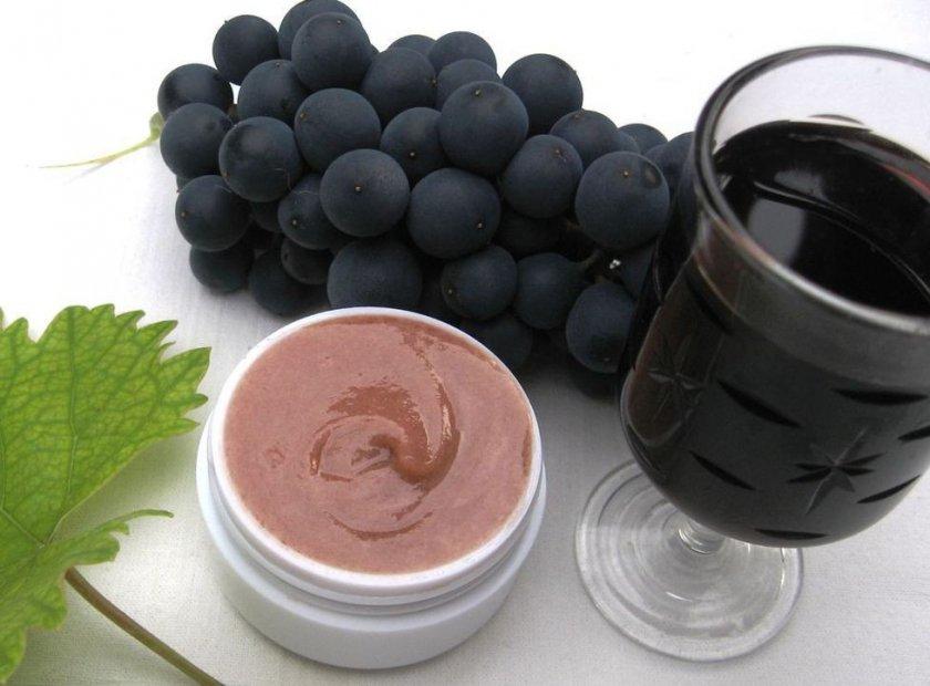 Чёрный виноград в косметологии