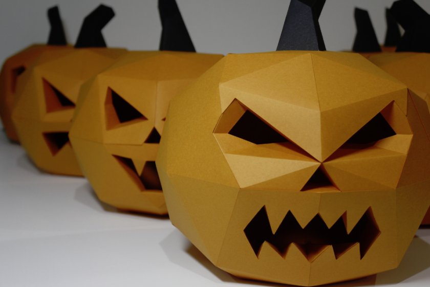 Как сделать тыкву на Хэллоуин из бумаги: интересные идеи