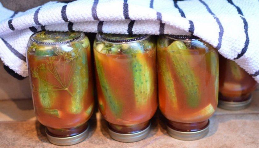 Маринованные огурцы с кетчупом