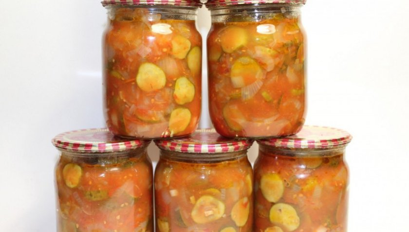 Огурцы консервированные в томатах