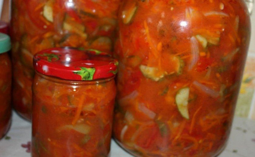 Салат из огурцов с томатами и перцем
