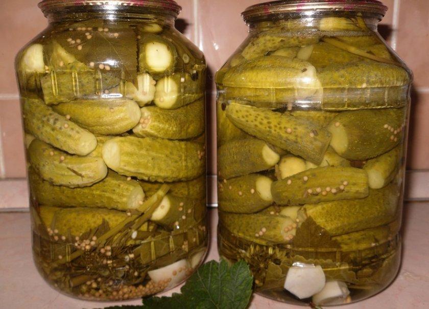 Солёны огурцы с зеленью и чесноком