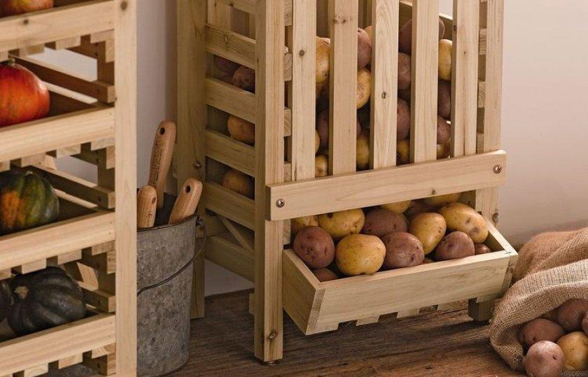 Хранение картофеля в кладовке