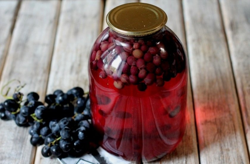 как закрыть виноградный компот на зиму