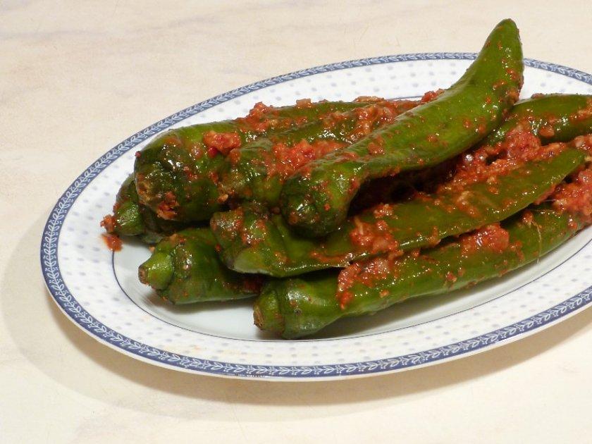 Зелёный острый перец в кулинарии