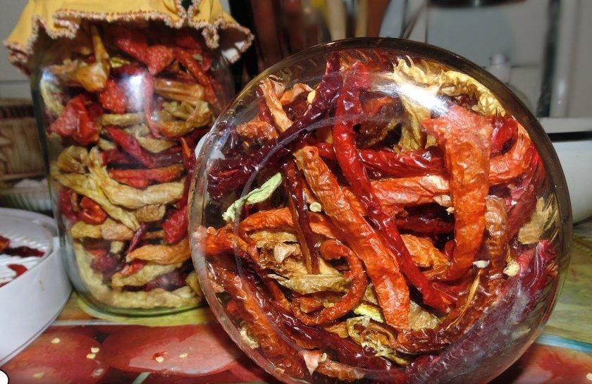 Сроки и основные правила хранения сушёного перца