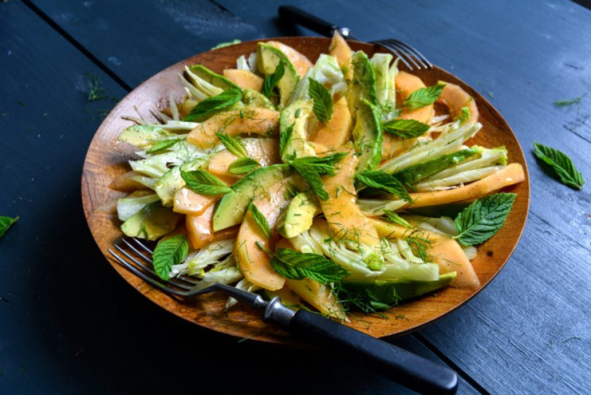 Салат из дыни