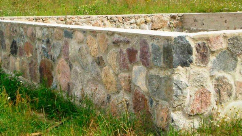 Каменный фундамент под теплицу
