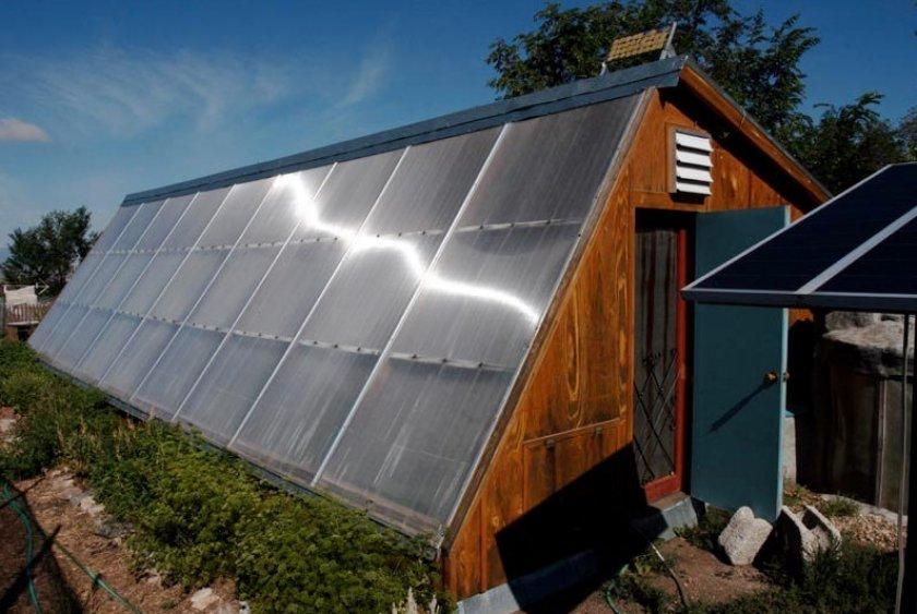 Солнечная отопительная система для теплицы
