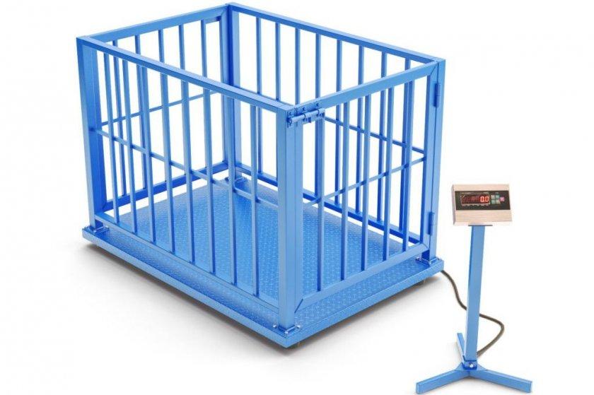 Специальнее весы на платформе с клеткой