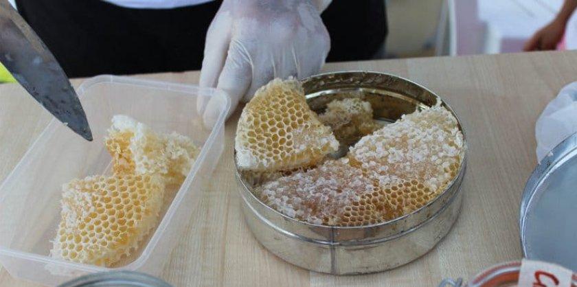 Хранение мёда в сотах