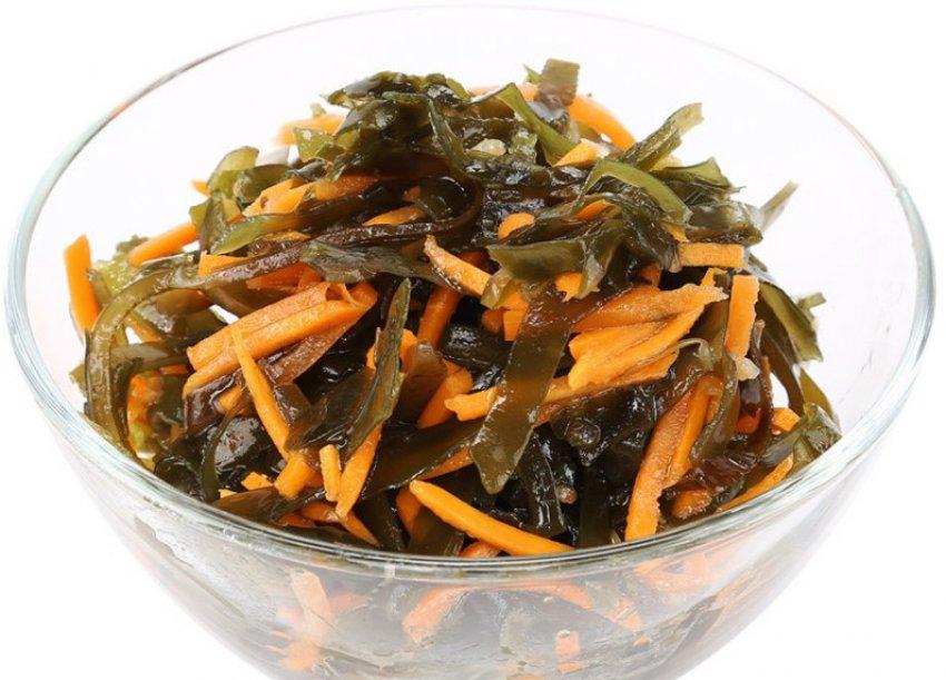 Салат из моркови и морской капусты