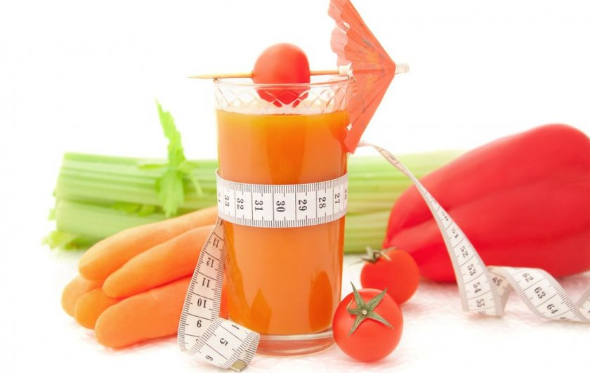 Морковный сок для похудения