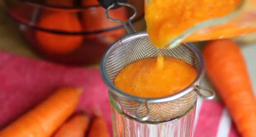 Приготовление морковного сока