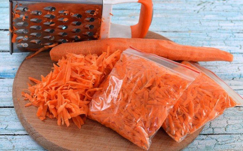 Заморозка тёртой моркови