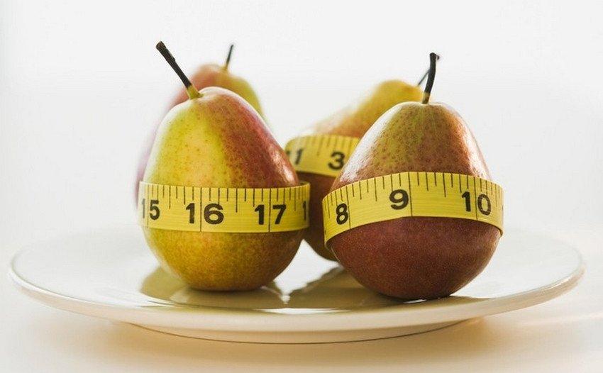 Употребление груши при похудении