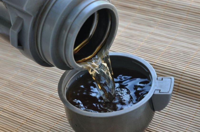 Чай из вишневых листьев в термосе
