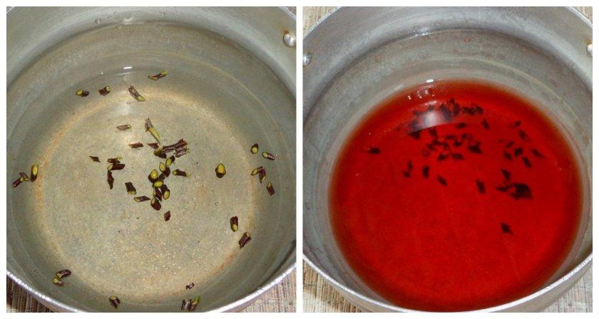 Приготовление чая из вишнёвых веточек