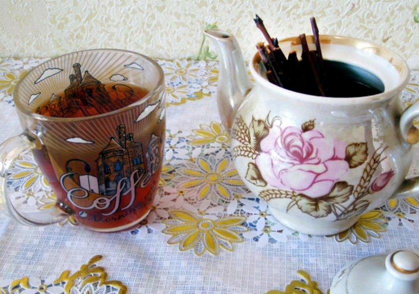 Чай из вишнёвых веток