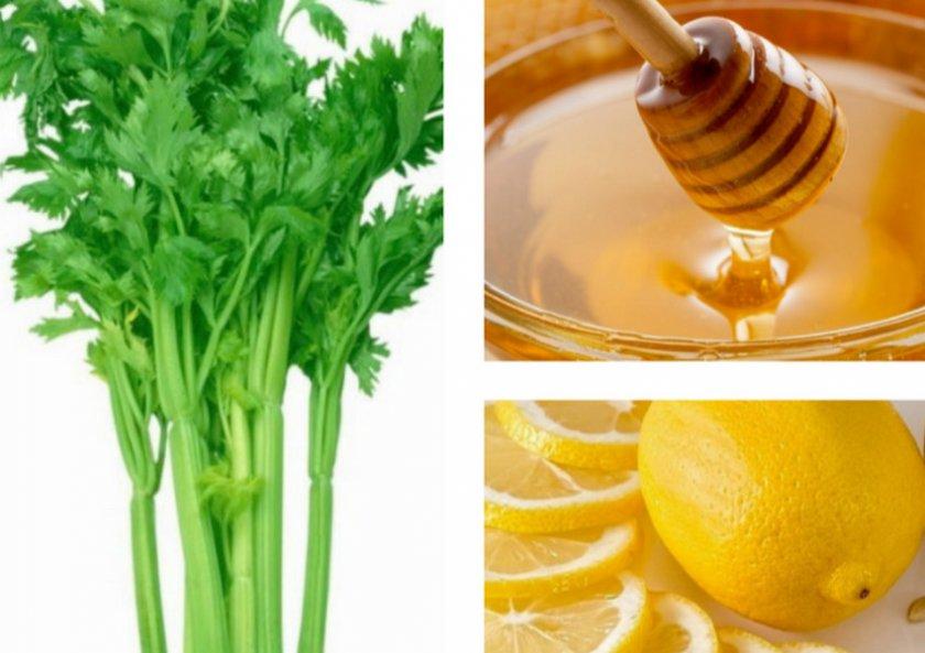 Сельдерей, мед, лимон