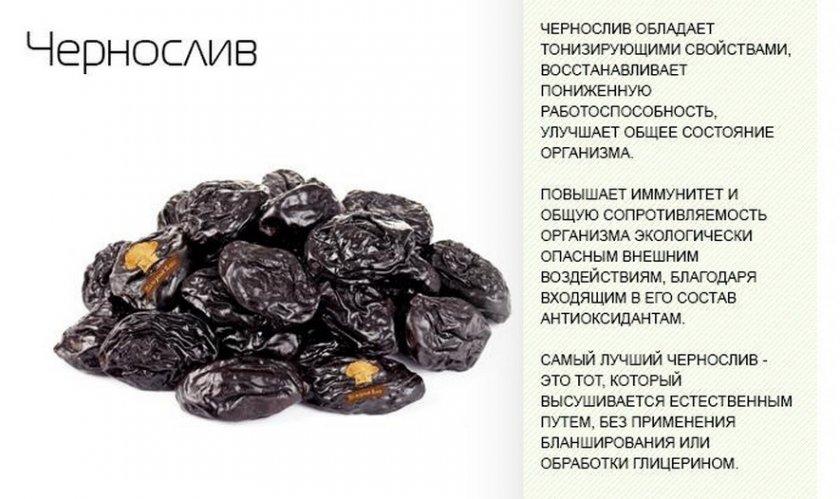 Польза чернослива