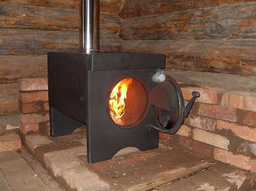 Печное отопление в курятнике