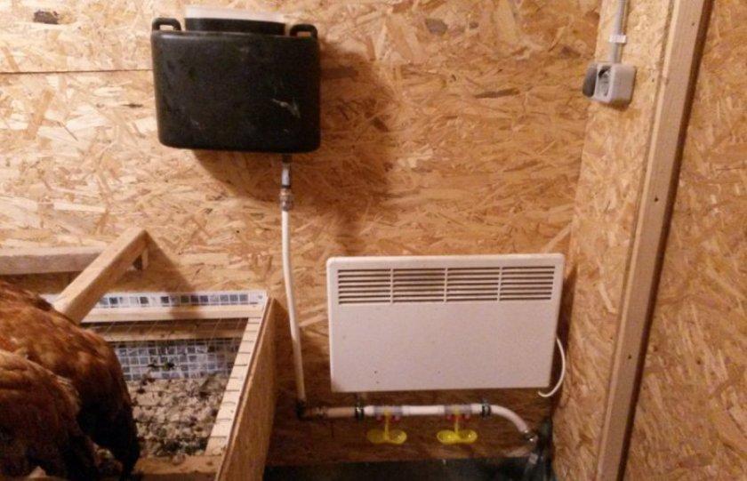 Радиаторы в курятнике