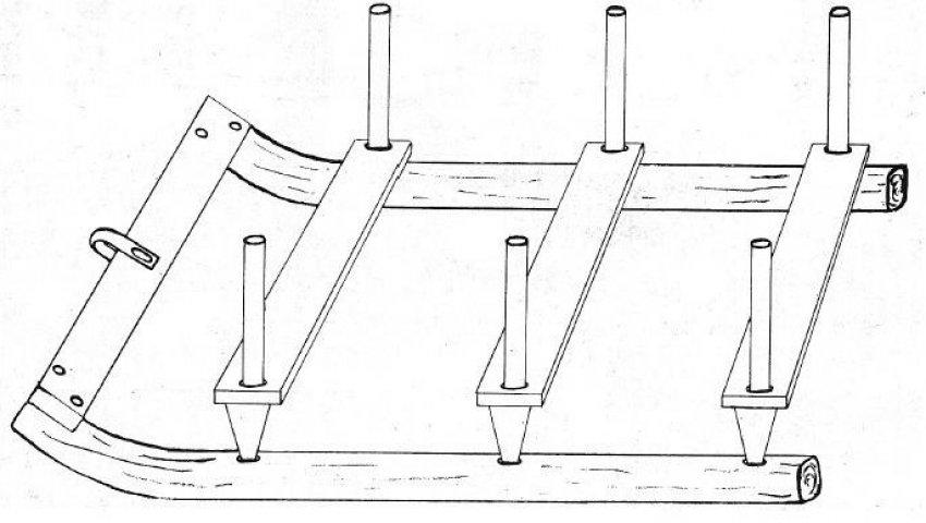 Схема саней