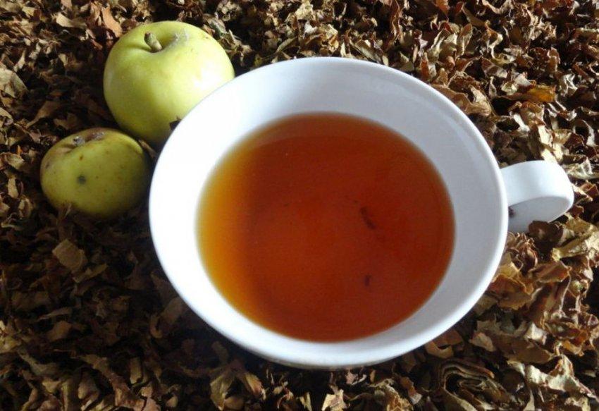 Чай из листьев яблони