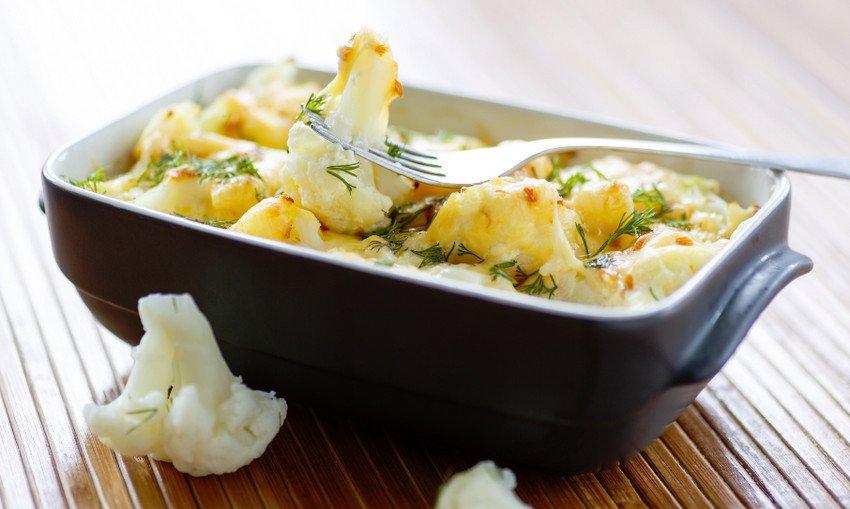 Запеченная цветная капуста с сыром
