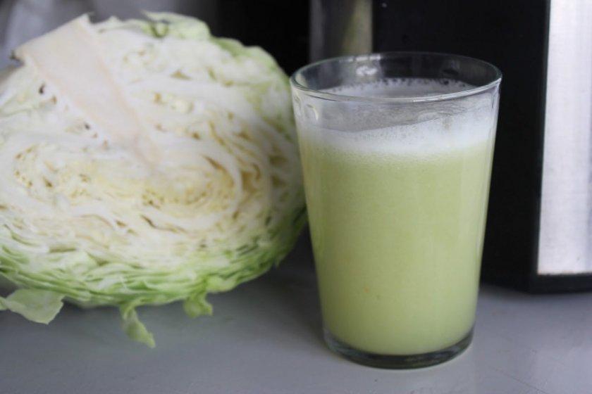 Свежевыжатый сок капусты