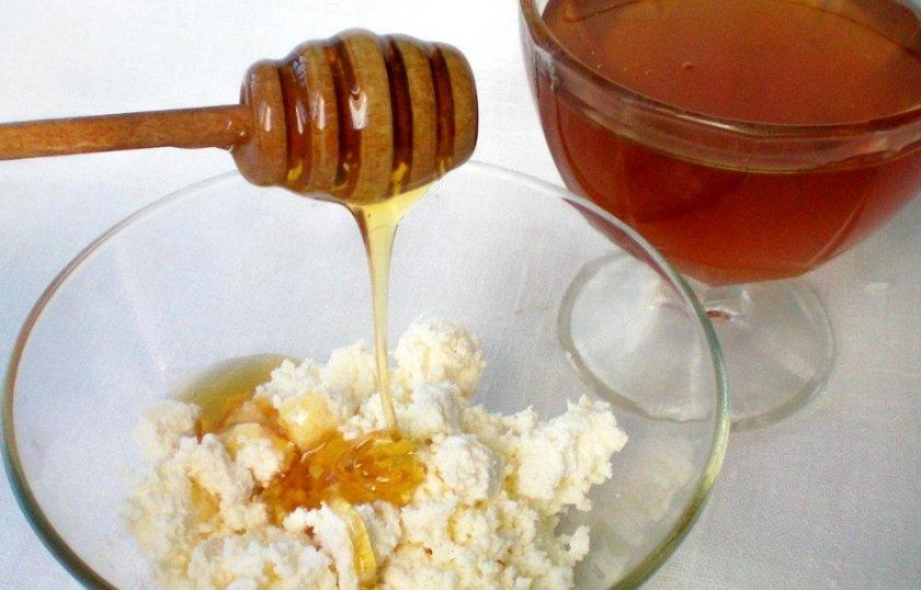 Мёд с творогом