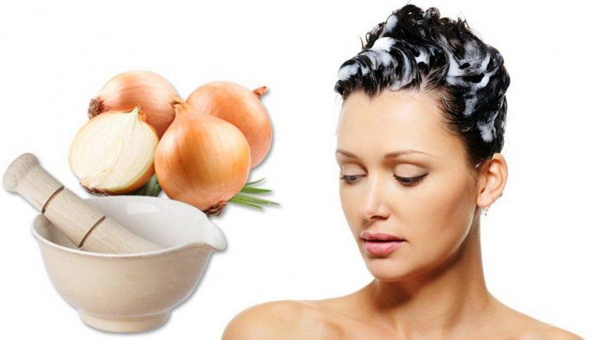 Применение лука для лечения волос