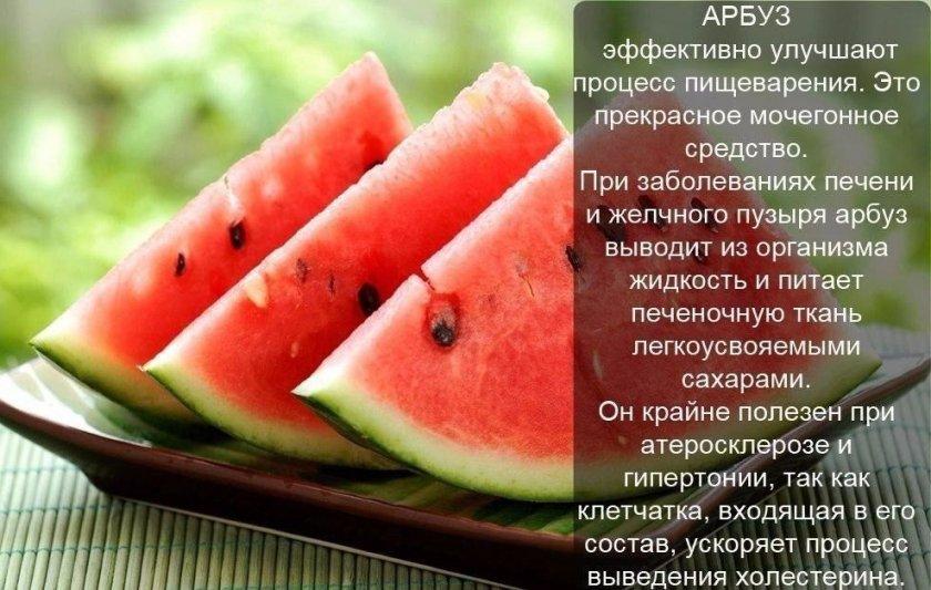 Полезные свойства арбуза