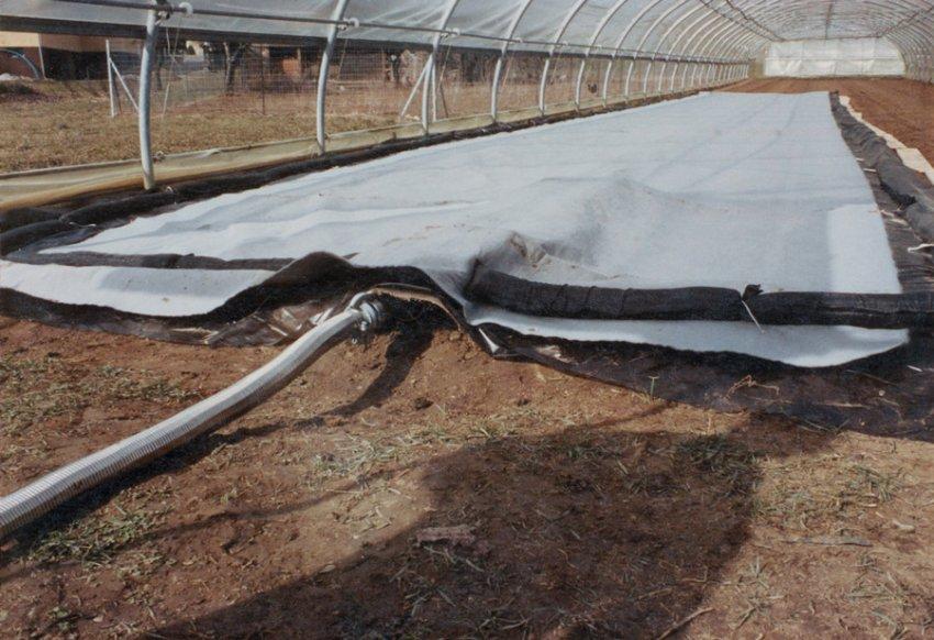 Термическая обработка земли в теплице