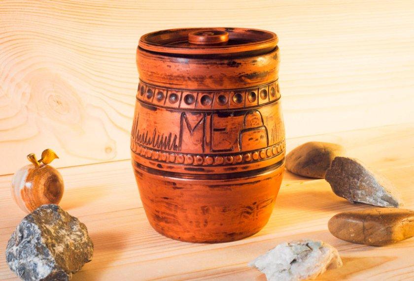 Глиняный горшок для мёда