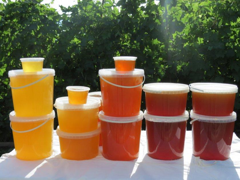 Мёд в пластиковой ёмкости
