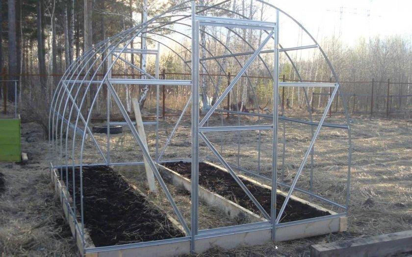 Теплица Урожай ПК после снятия поликарбоната