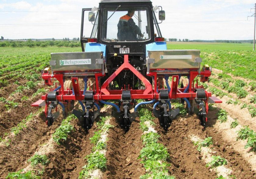 Междурядная культивация картофеля