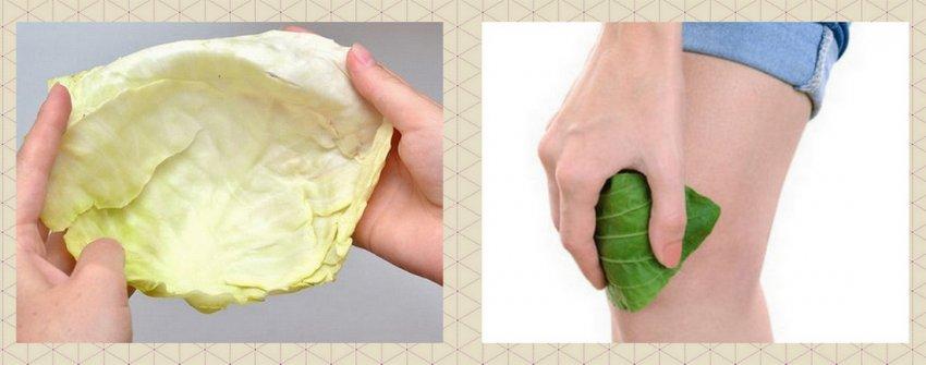 Капустный лист и колено